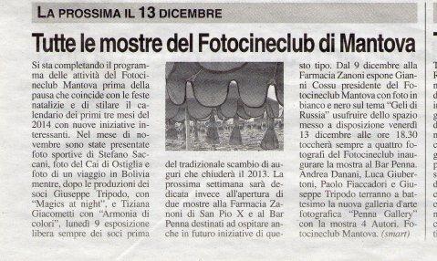 """""""la Voce di Mantova"""" del 11-12-13"""