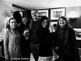 Le 4 autrici e il Presidente del Fotocineclub Mantova - foto © Andrea Danani