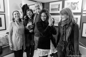 Le 4 autrici e il Presidente del Fotocineclub Mantova - foto © Paolo Fiaccadori